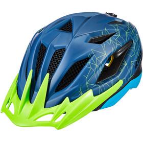 KED Street MIPS Helm Kinder blue/green